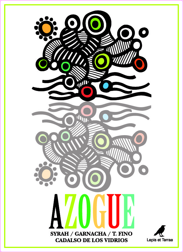 Etiqueta vino Azogue