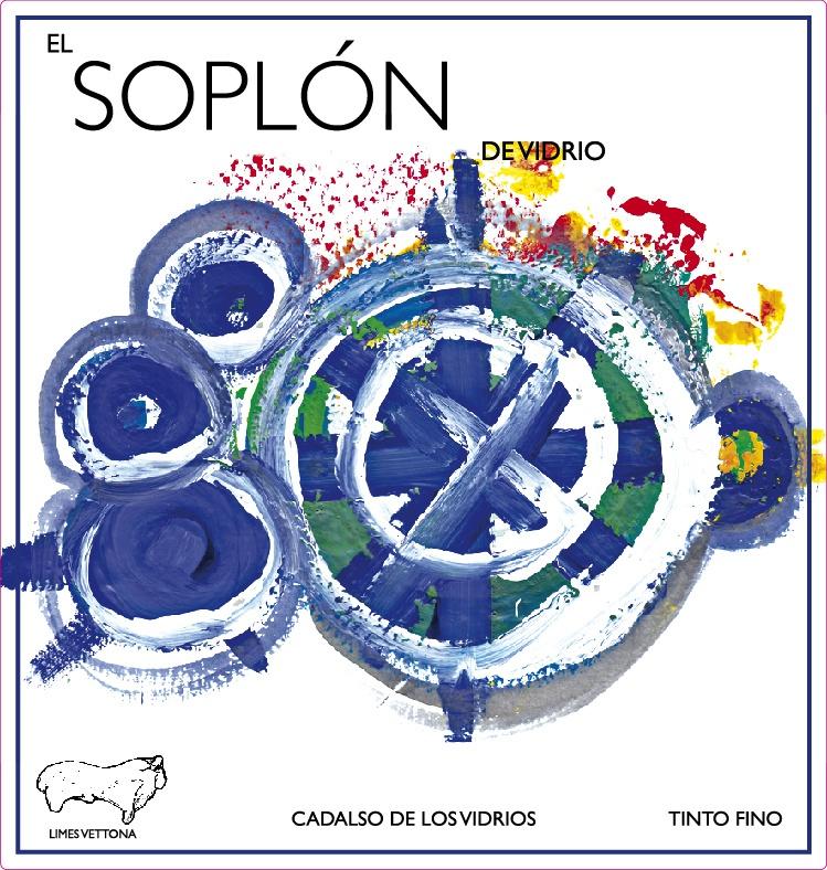 Etiqueta vino Soplón de vidrio