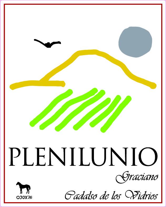 Etiqueta vino Plenilunio
