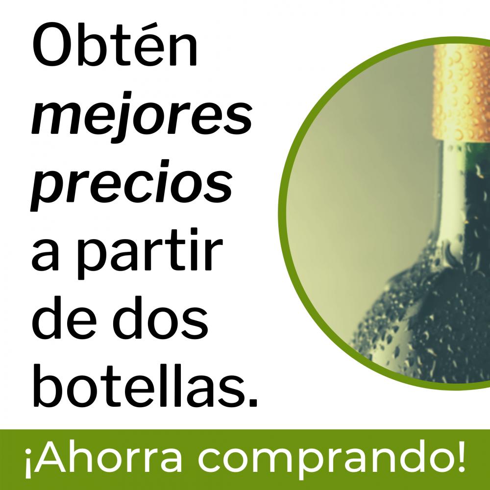 Aviso de ahorro tienda virtual a partir de dos botellas